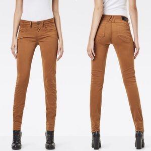 G-Star Raw Denim Lynn Mid-Waist Skinny Color Jeans
